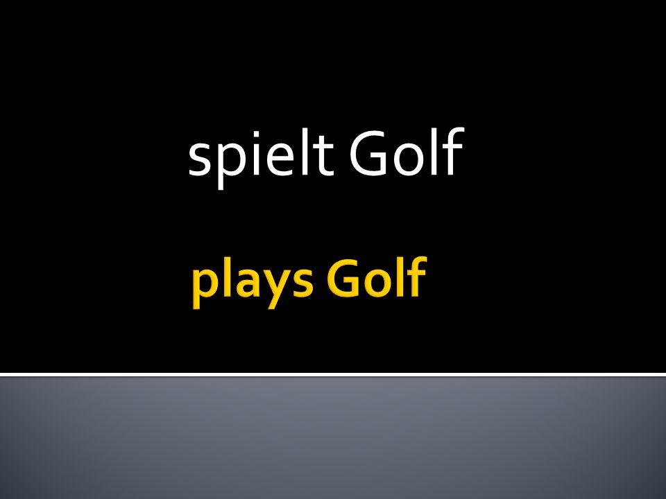 spielt Golf
