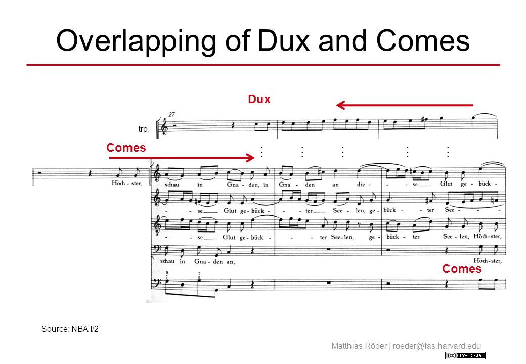 Pre-Weimar All fugues have at least one complete exposition Seldom integrated into larger context If so, there is no thematic connection Experimentation with use of free counterpoint within permutation fugue Weimar First fugue exposition is often cut off Always connected to larger context Close thematic connection between sections Free counterpoint used to connect permutation fugue with preceding or following section Comparison Matthias Röder | roeder@fas.harvard.edu