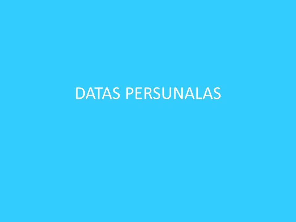 DATAS PERSUNALAS