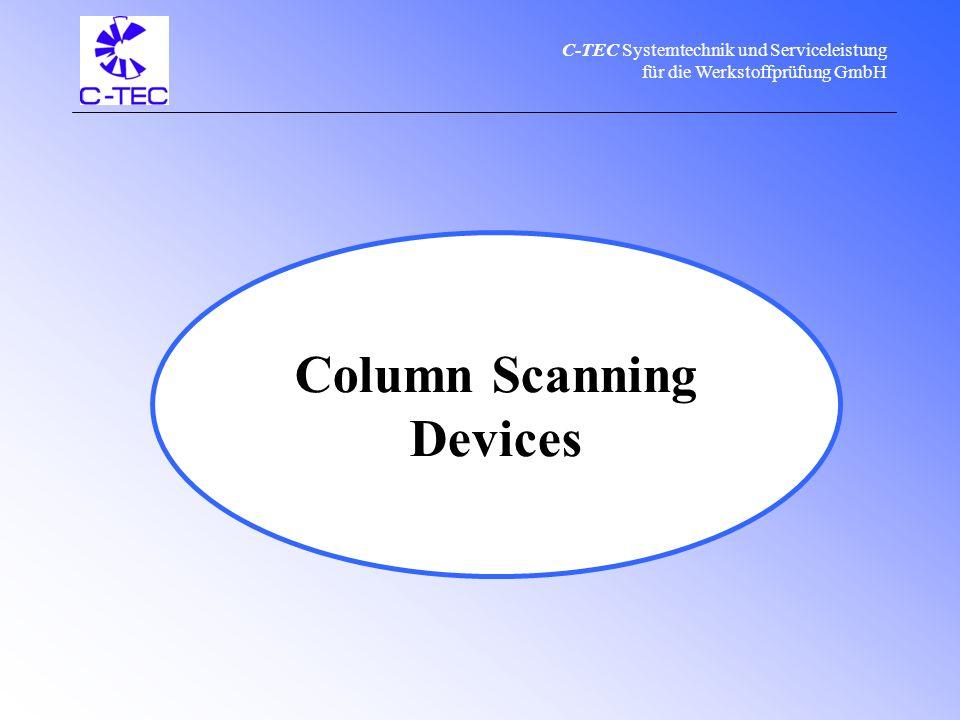 C-TEC Systemtechnik und Serviceleistung für die Werkstoffprüfung GmbH C-TEC product range & service Pipeline CrawlersX-Ray Units Column Scanning Devices Calibration Manufacturing Sale Repair