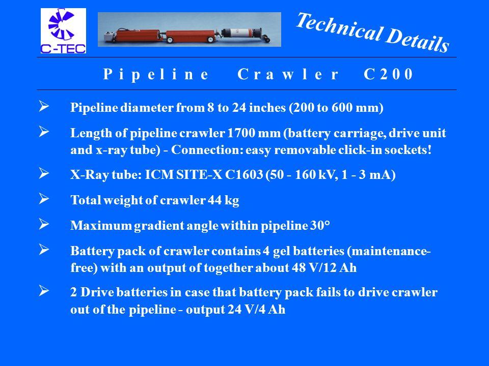 Pipe l ineCrawler Type C200: Type C400: