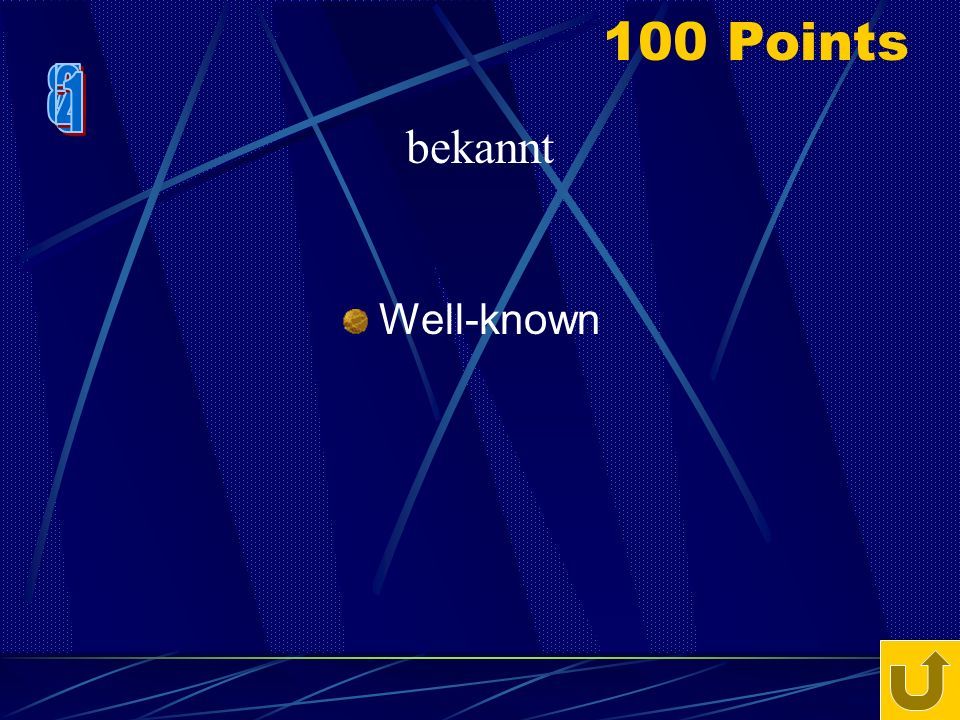 80 Points To greet begrüssen