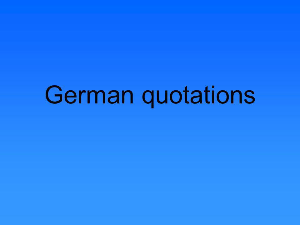 German quotations