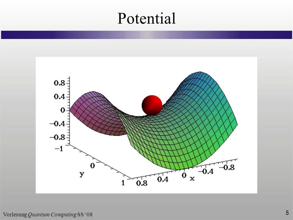 Vorlesung Quantum Computing SS 08 5 Potential