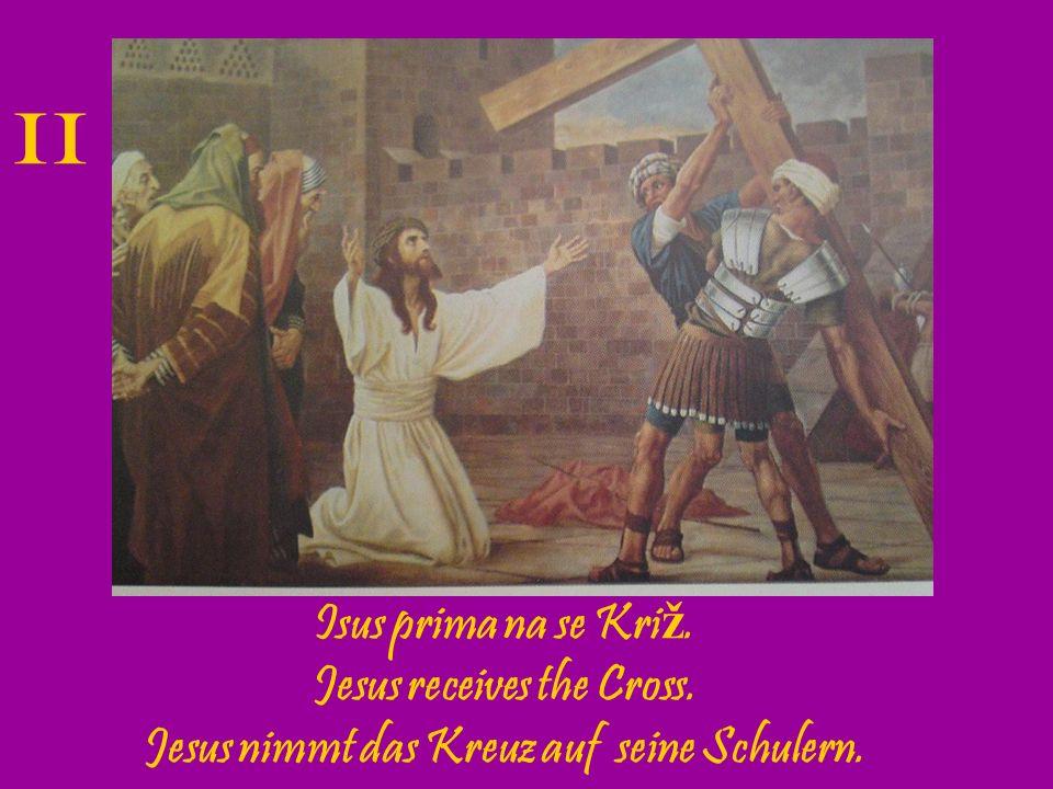 Isus pada prvi put pod kri ž em.