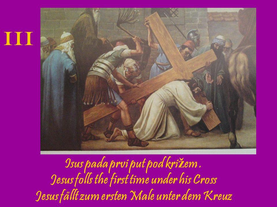 Isus susre ć e svoju svetu Majku Jesus is met by his Blessed Mother Jesus begegnet seiner betrubten Mutter IV