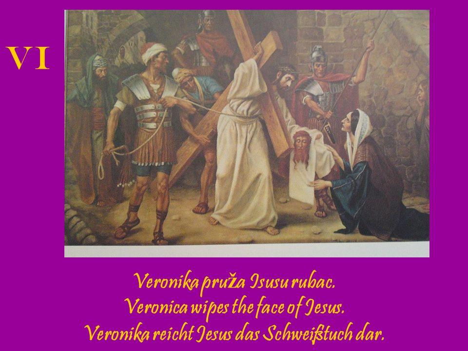 Isus pada drugi put pod kri ž em.Jesus falls the second time.