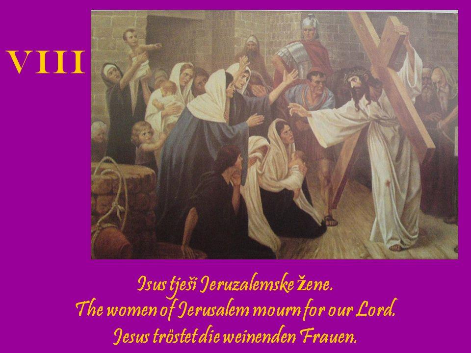 Isus pada tre ć i put pod kri ž em.Jesus falls for the third time.