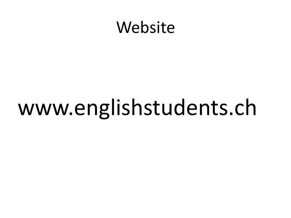 Website www.englishstudents.ch