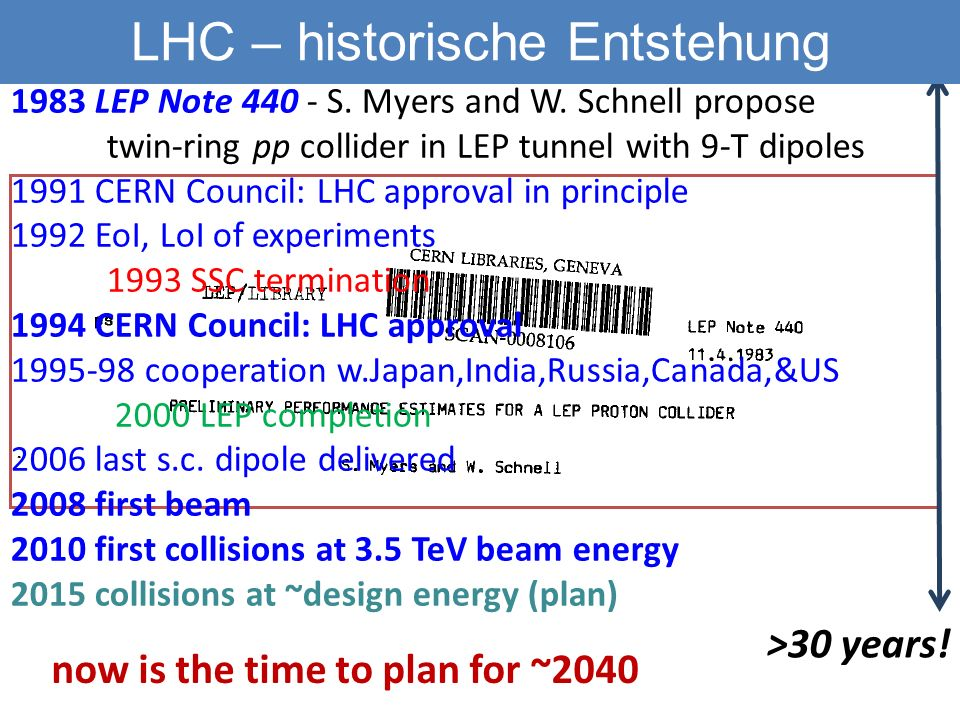 Fresca2 McIntyre VHE-LHC höheres Feld Technologiewechsel E. Todesco, L. Rossi