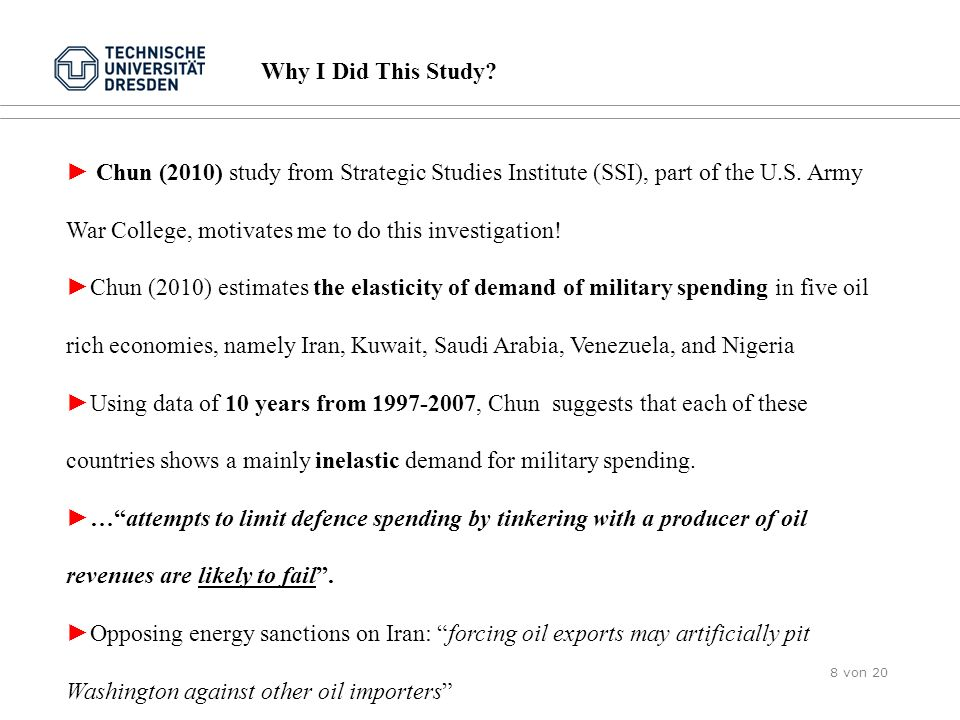 Why I Did This Study? Chun (2010) study from Strategic Studies Institute (SSI), part of the U.S. Army War College, motivates me to do this investigati