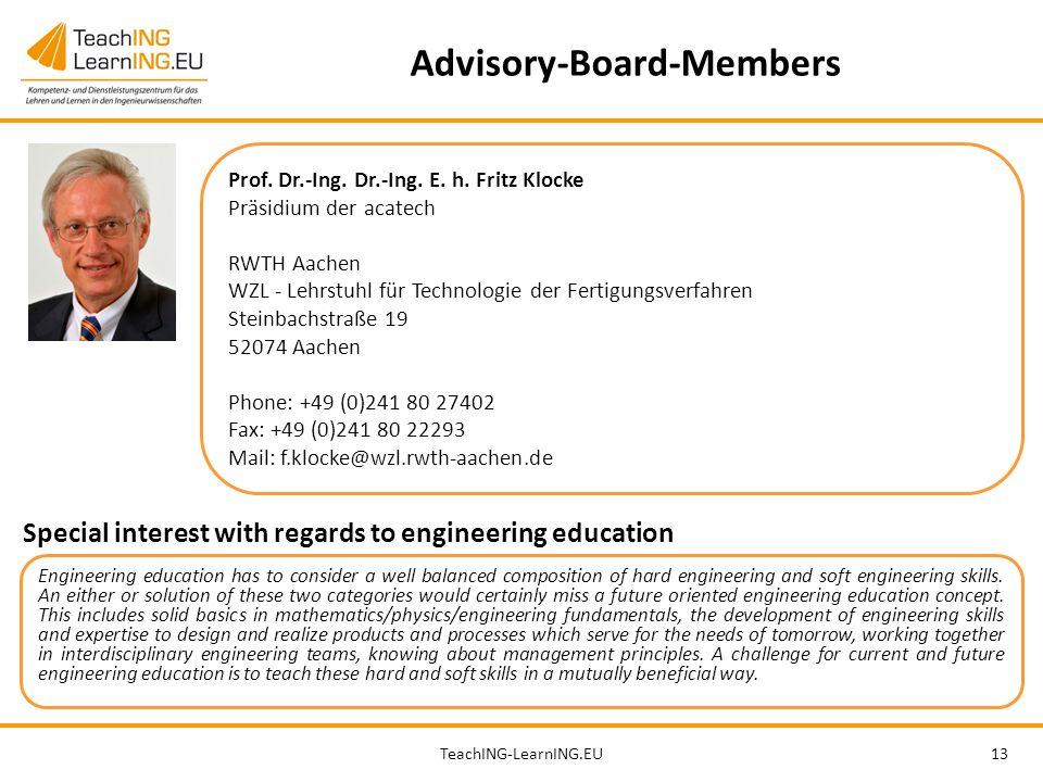 TeachING-LearnING.EU13 Advisory-Board-Members Prof.