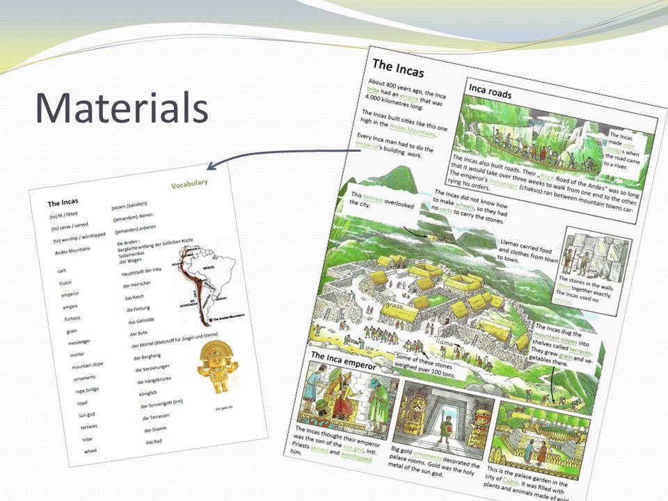 Materials II Farming Worksheet Aztecs & Incas Domino