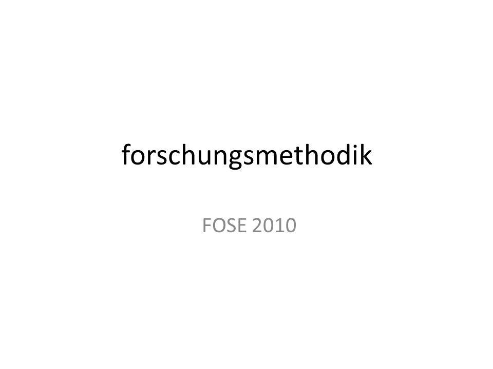 forschungsmethodik FOSE 2010