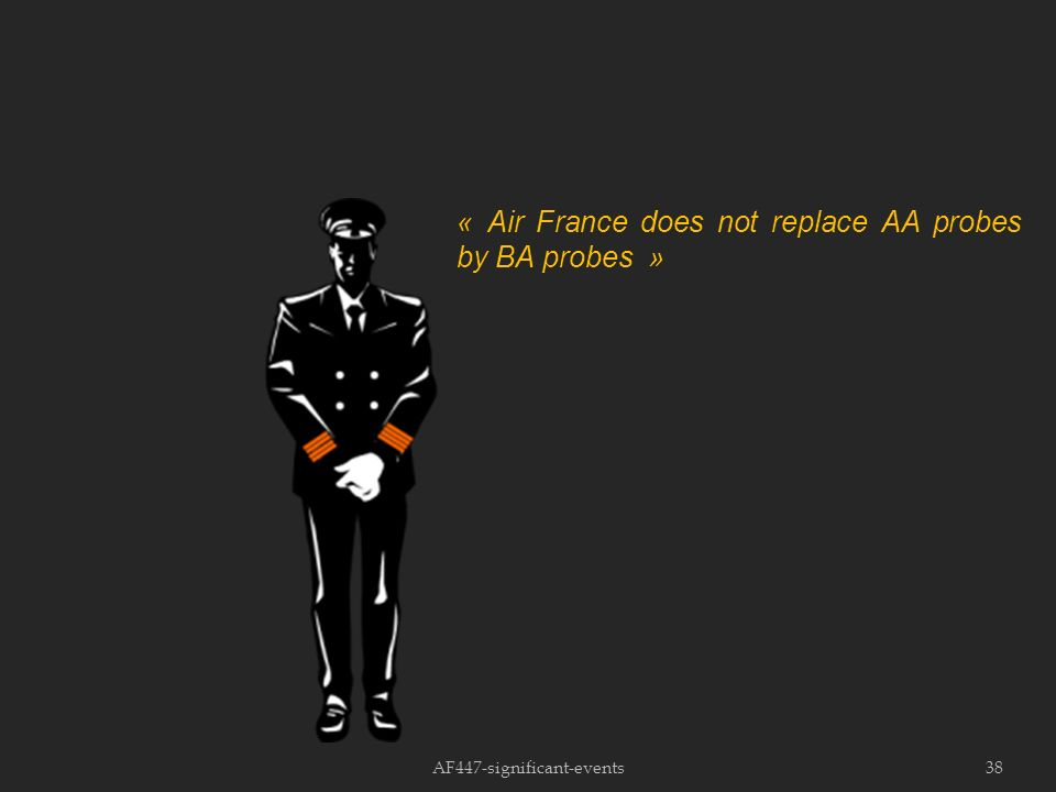 AF447-significant-events38 « Air France does not replace AA probes by BA probes »