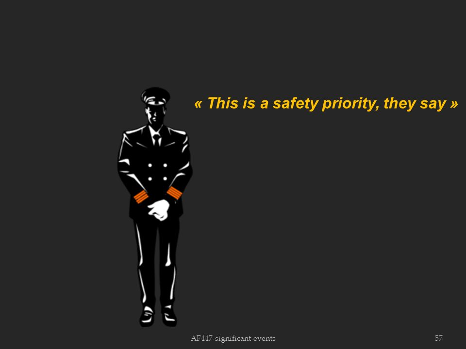 AF447-significant-events57 « This is a safety priority, they say »