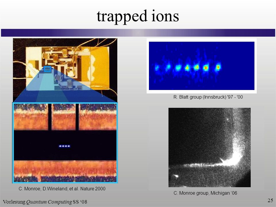 Vorlesung Quantum Computing SS trapped ions C.