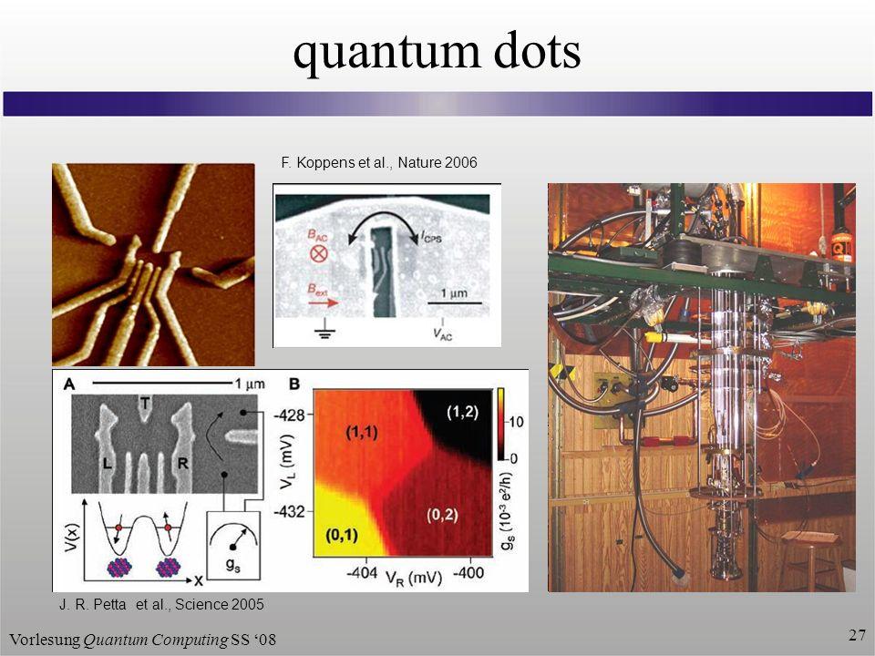 Vorlesung Quantum Computing SS 08 27 quantum dots J.
