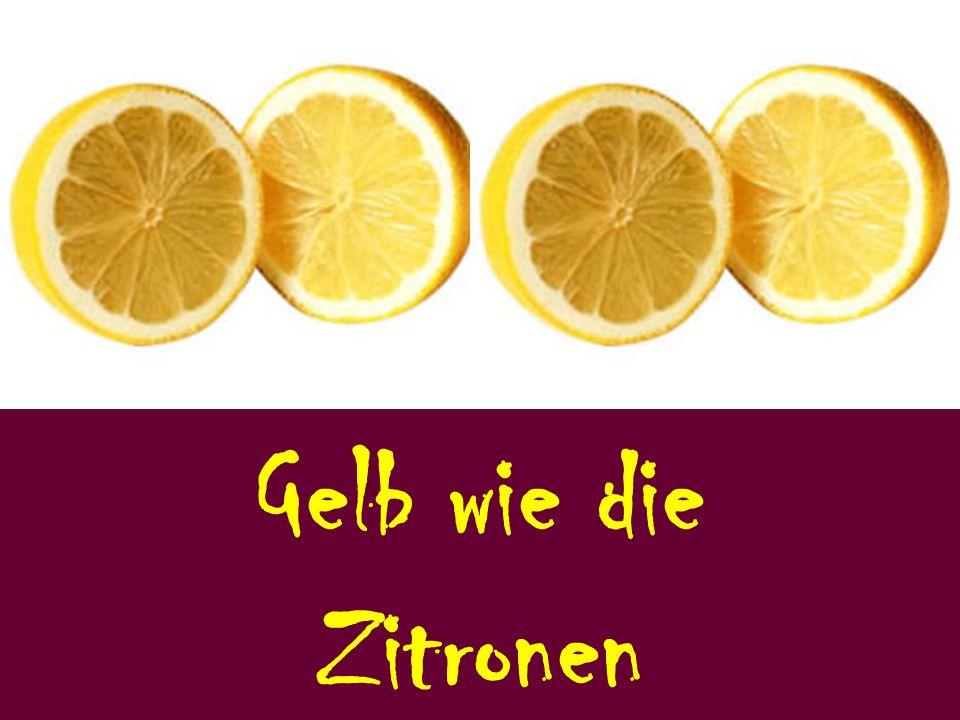Gelb wie die Zitronen