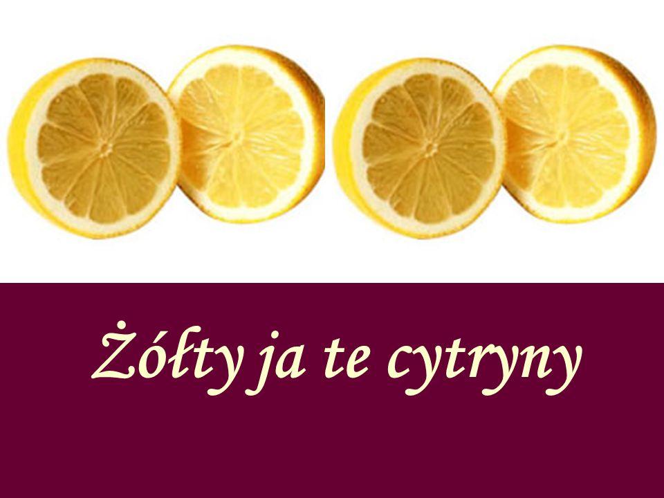 Żółty ja te cytryny