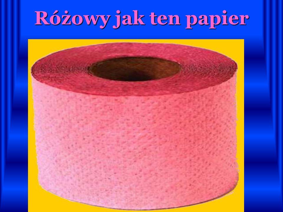Różowy jak ten papier
