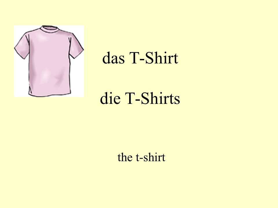 das T-Shirt die T-Shirts the t-shirt