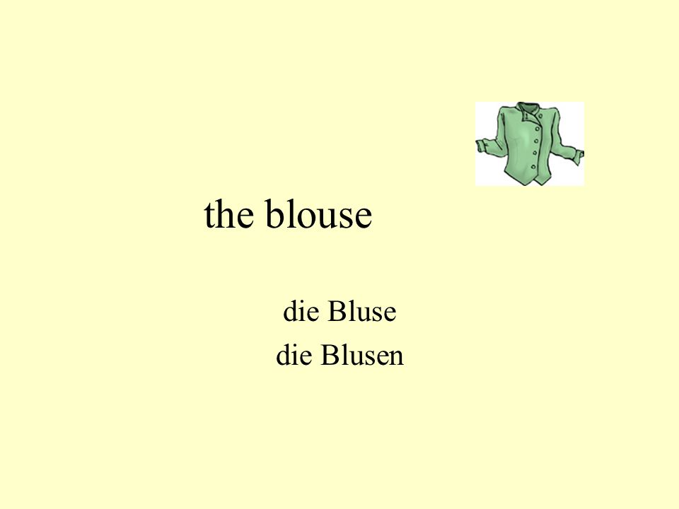 the blouse die Bluse die Blusen