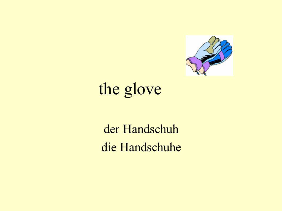 the glove der Handschuh die Handschuhe