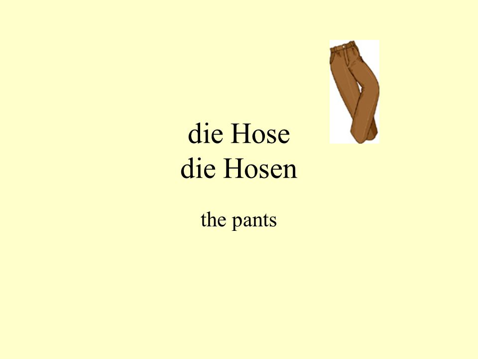 die Hose die Hosen the pants