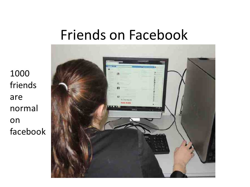 Friends on Facebook 1000 friends are normal on facebook