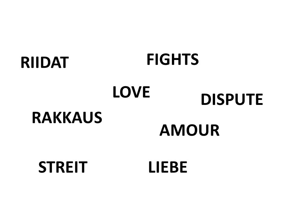 FIGHTS LOVE RAKKAUS AMOUR RIIDAT DISPUTE LIEBESTREIT