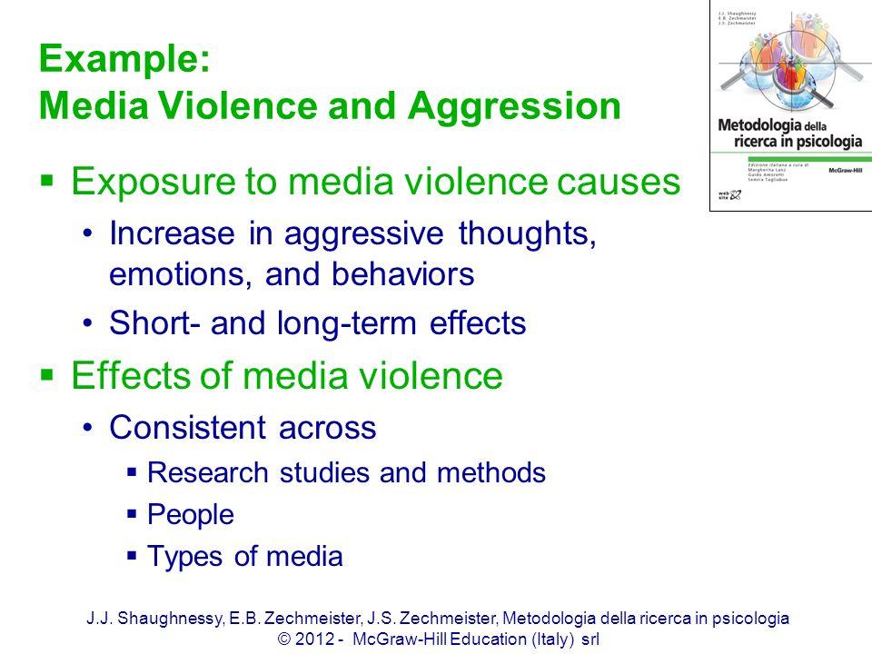 J.J. Shaughnessy, E.B. Zechmeister, J.S. Zechmeister, Metodologia della ricerca in psicologia © 2012 - McGraw-Hill Education (Italy) srl Example: Medi