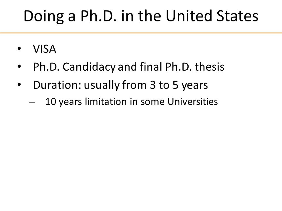 Doing a Ph.D.in the United States VISA Ph.D. Candidacy and final Ph.D.
