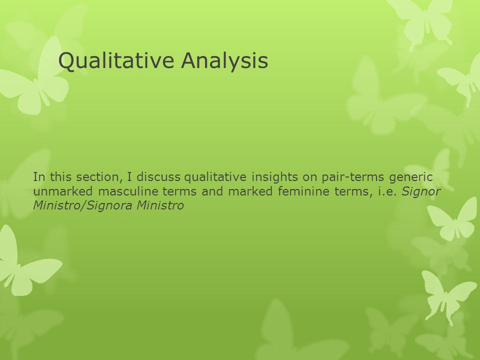Qualitative Analysis In this section, I discuss qualitative insights on pair-terms generic unmarked masculine terms and marked feminine terms, i.e.