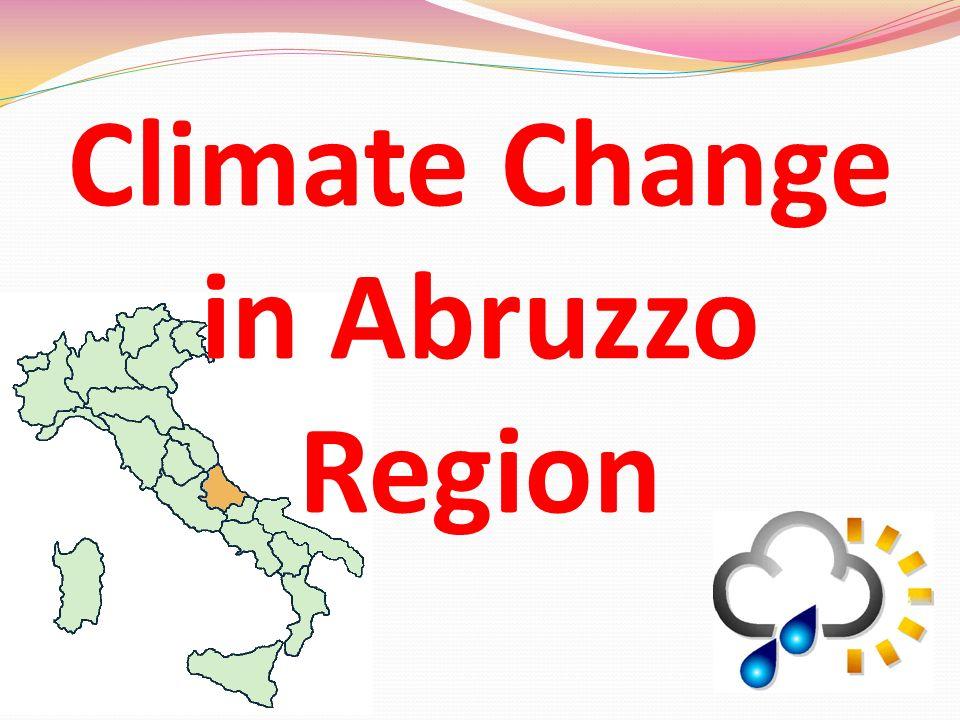 Climate Change in Abruzzo Region