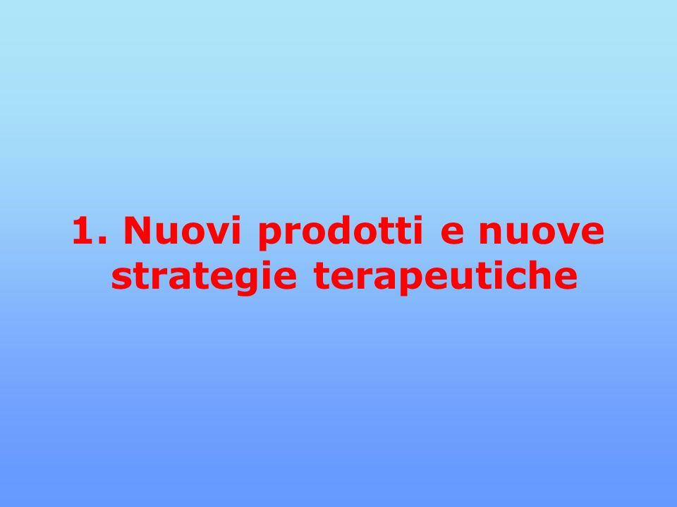1. Nuovi prodotti e nuove strategie terapeutiche