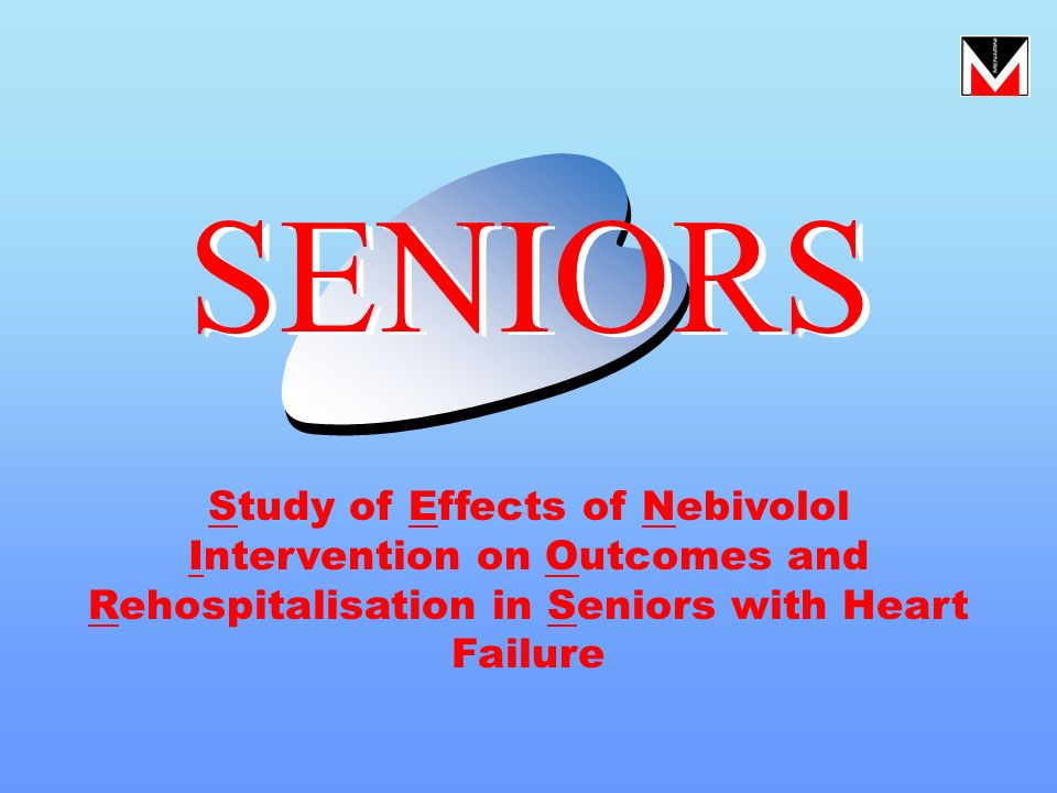 Study of Effects of Nebivolol Intervention on Outcomes and Rehospitalisation in Seniors with Heart Failure SENIORS