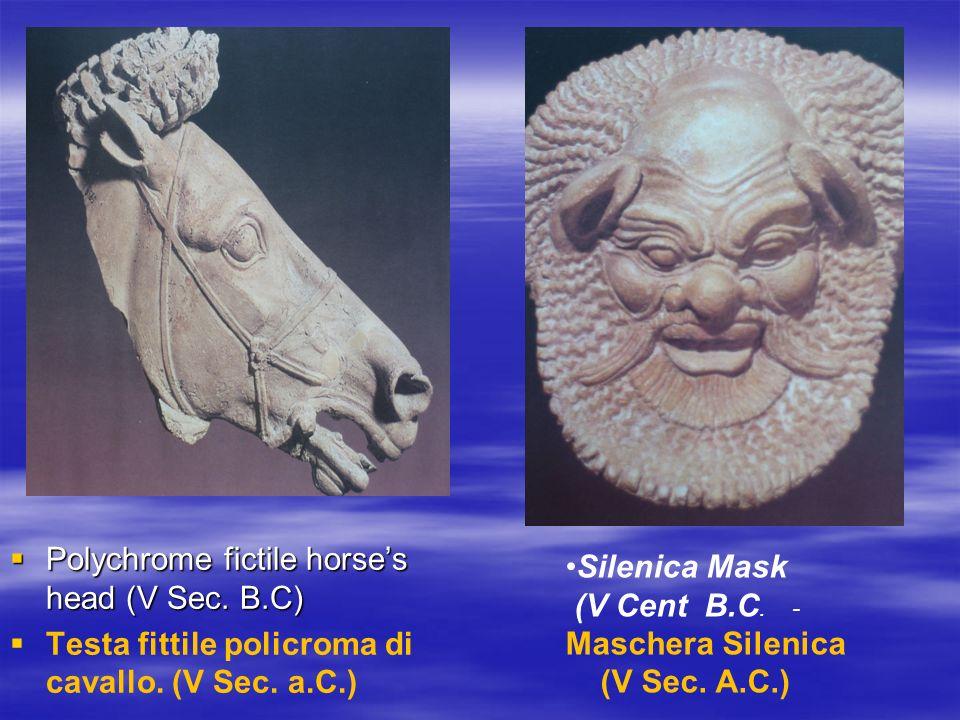 Polychrome fictile horses head (V Sec. B.C) Polychrome fictile horses head (V Sec.
