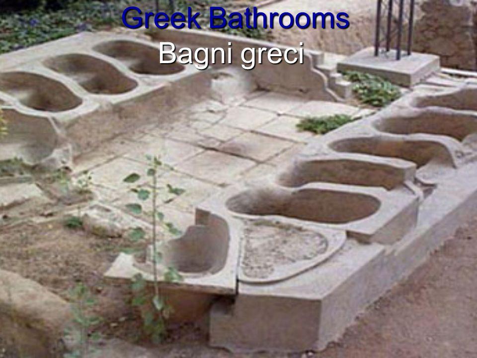 Greek Bathrooms Bagni greci Greek Bathrooms Bagni greci