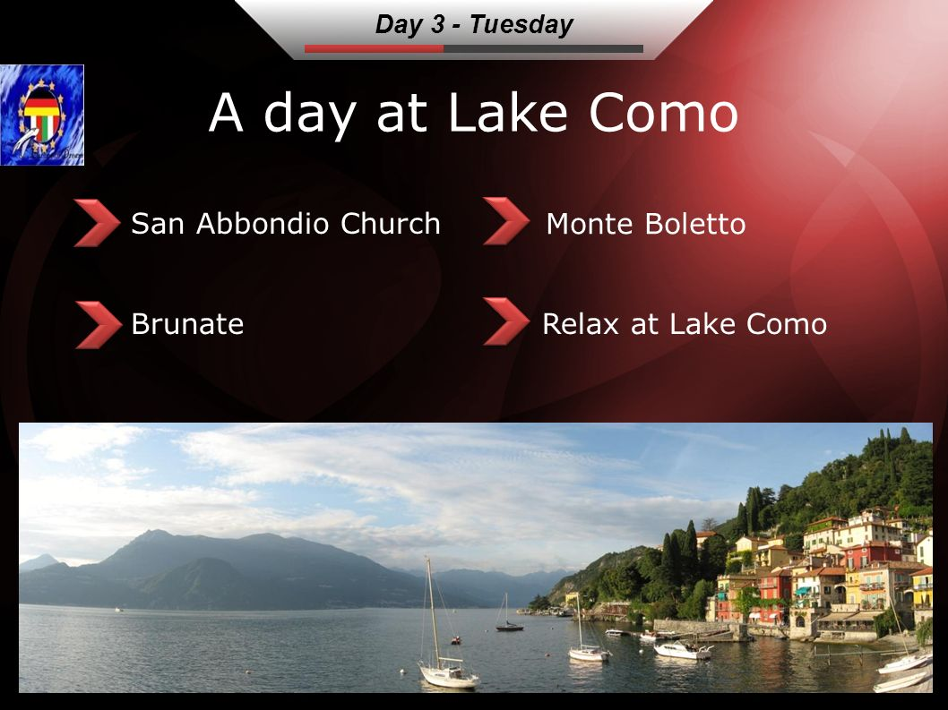 A day at Lake Como San Abbondio Church Brunate Monte Boletto Relax at Lake Como Day 3 - Tuesday