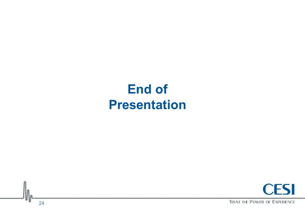 End of Presentation 24