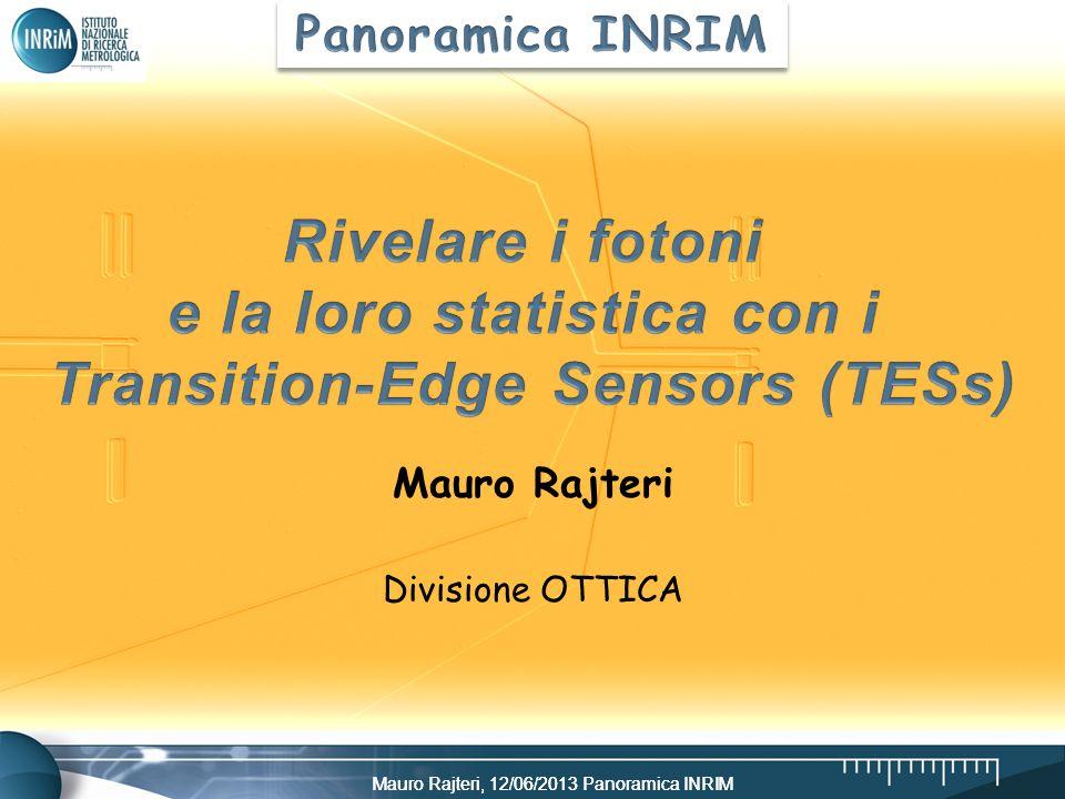 Mauro Rajteri, 12/06/2013 Panoramica INRIM Mauro Rajteri Divisione OTTICA
