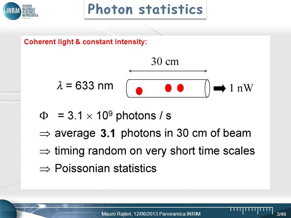 Mauro Rajteri, 12/06/2013 Panoramica INRIM 3/46 3.1 Coherent light & constant intensity: