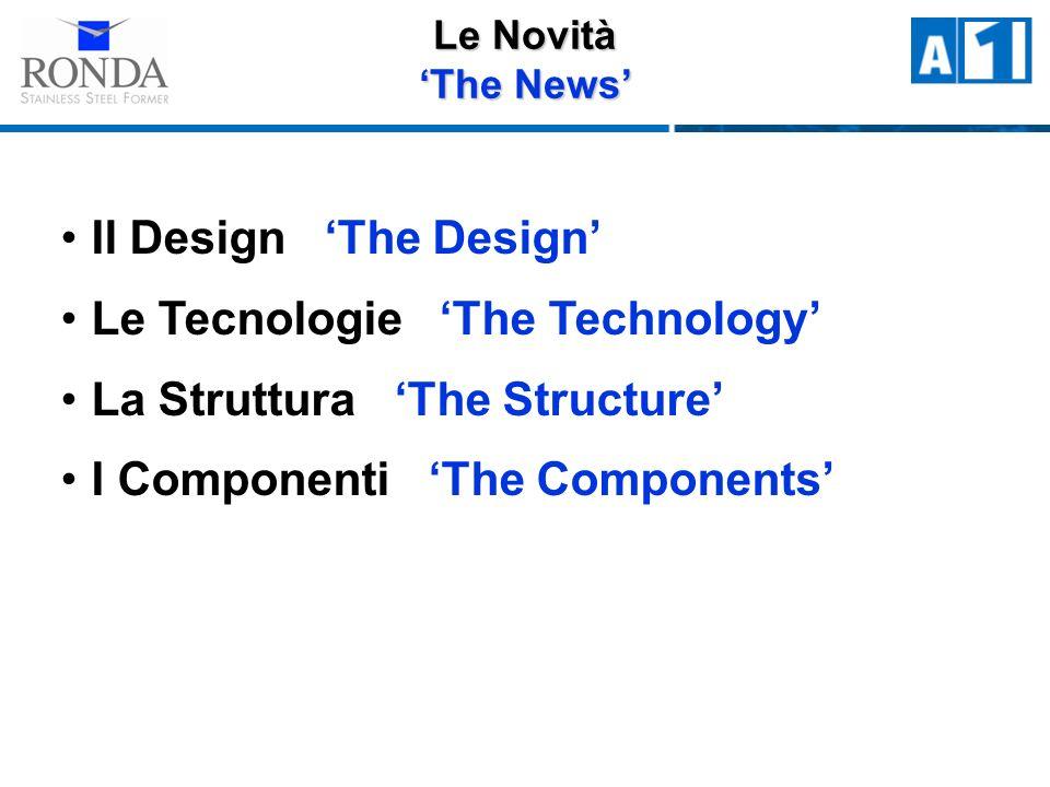 Le Novità The News Il Design The Design Le Tecnologie The Technology La Struttura The Structure I Componenti The Components