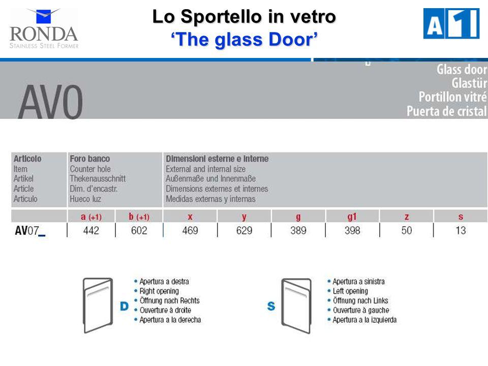 Lo Sportello in vetro The glass Door
