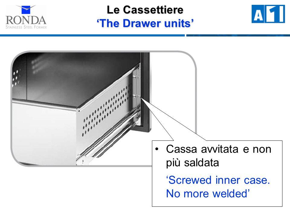 Cassa avvitata e non più saldata Screwed inner case. No more welded Le Cassettiere The Drawer units