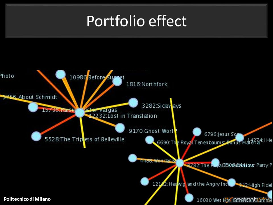 Politecnico di Milano Portfolio effect