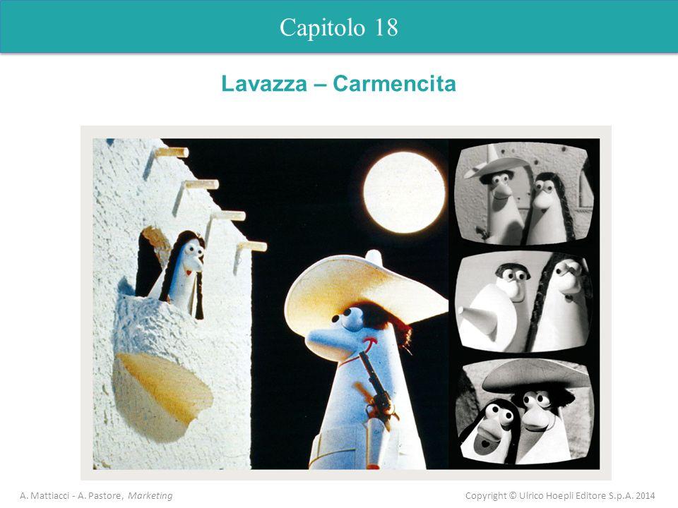 Capitolo 18 A. Mattiacci - A. Pastore, Marketing Copyright © Ulrico Hoepli Editore S.p.A. 2014 Lavazza – Carmencita