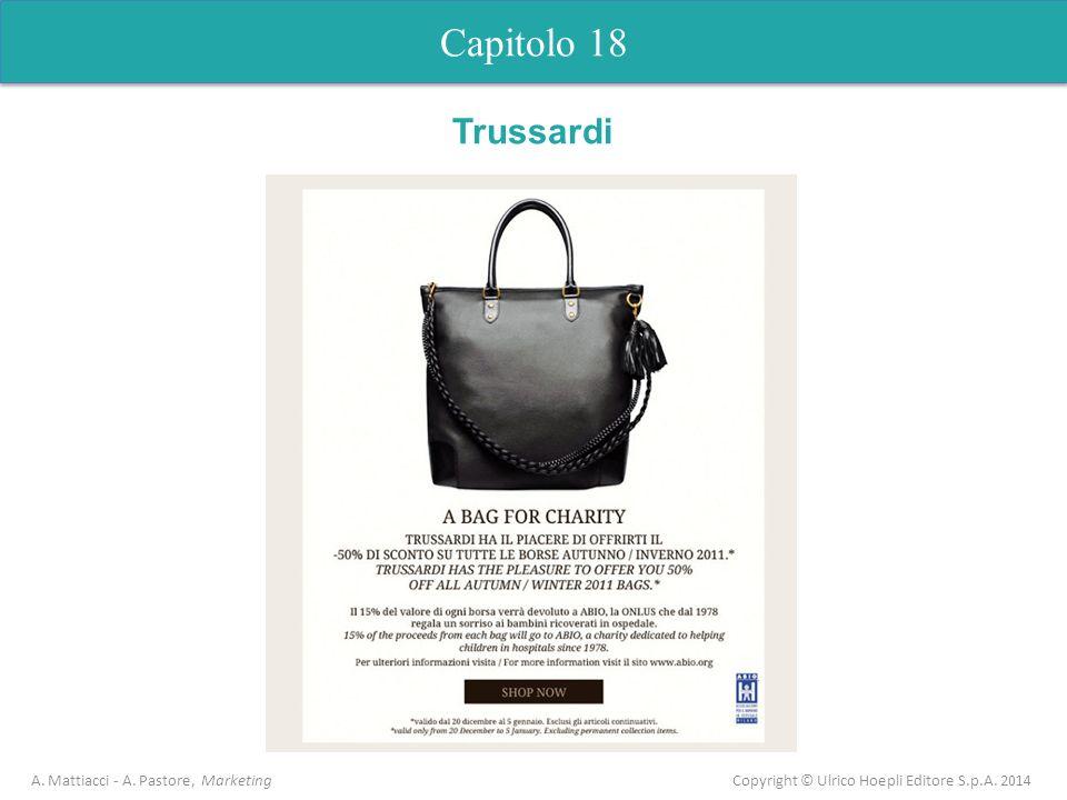 Capitolo 18 A. Mattiacci - A. Pastore, Marketing Copyright © Ulrico Hoepli Editore S.p.A. 2014 Trussardi