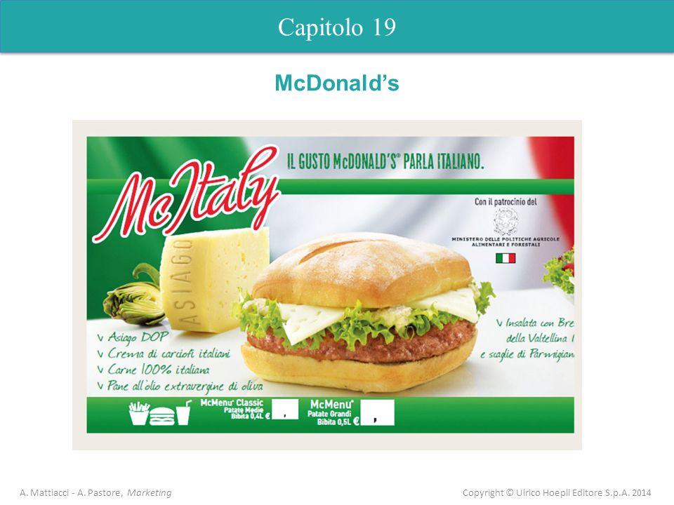 Capitolo 19 A. Mattiacci - A. Pastore, Marketing Copyright © Ulrico Hoepli Editore S.p.A. 2014 McDonalds